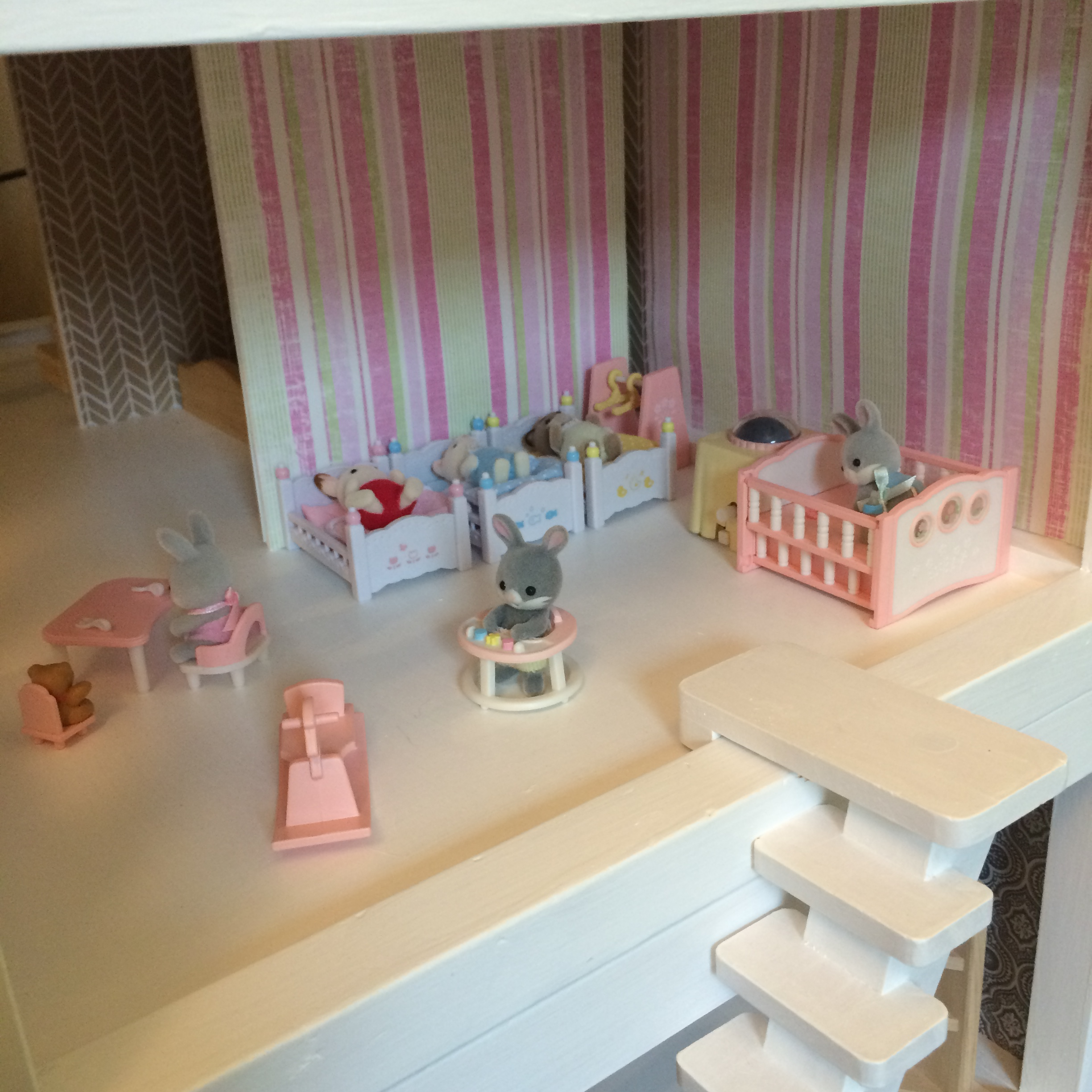 Girl Bedroom/nursery (furniture Is Calico Critters)